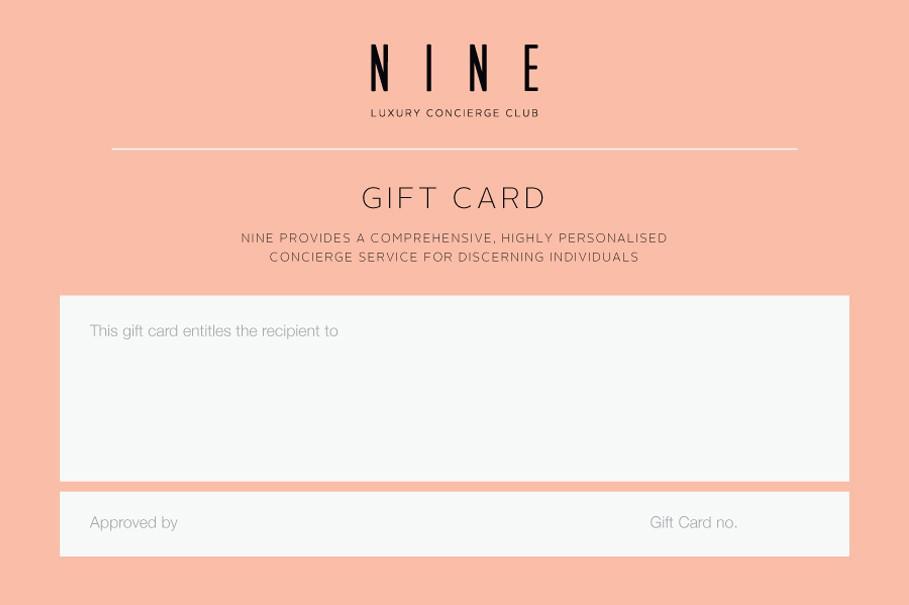 Nine Gift Cards